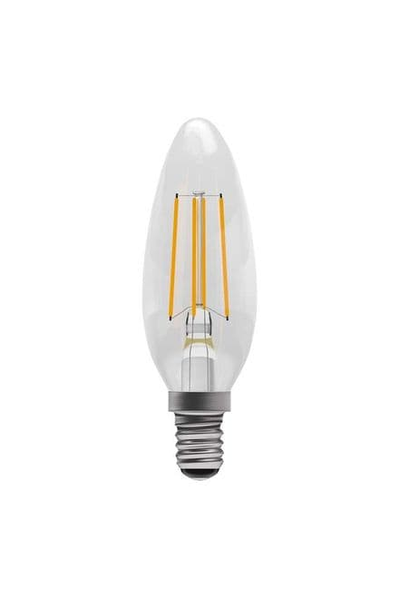 BELL 60117 4W LED Dimmable Filament Candle SBC Clear 4000K